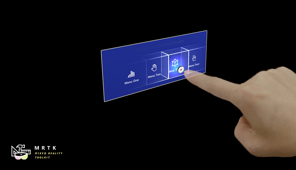Mixed Reality Toolkit for Unreal Hand Menu